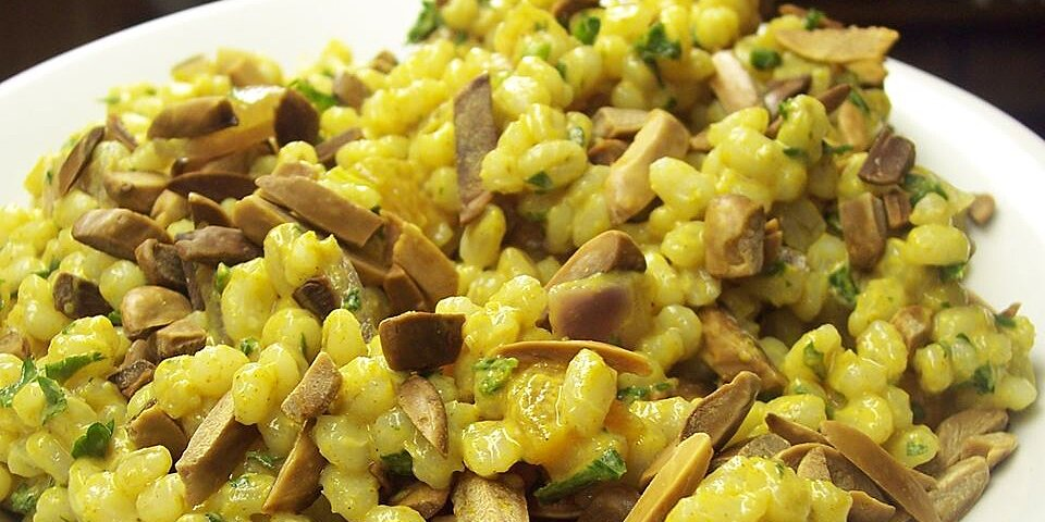 barley salad with almonds and apricots recipe