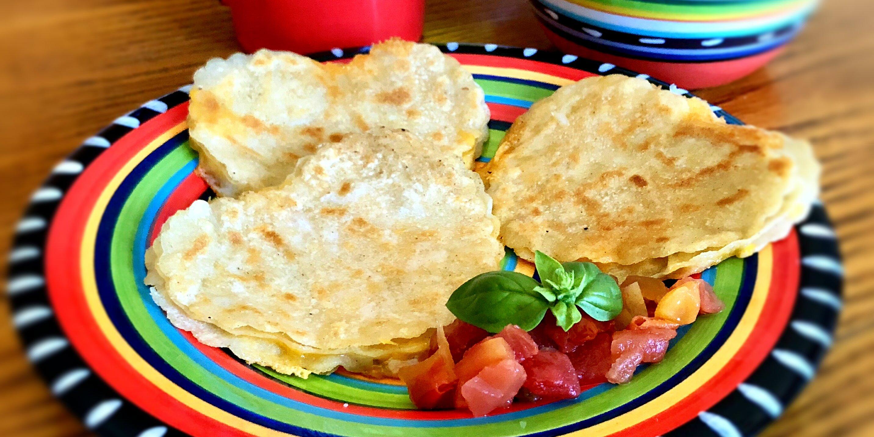 2 minute cheese quesadillas recipe