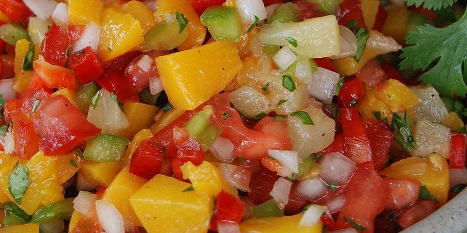 mango peach and pineapple salsa recipe