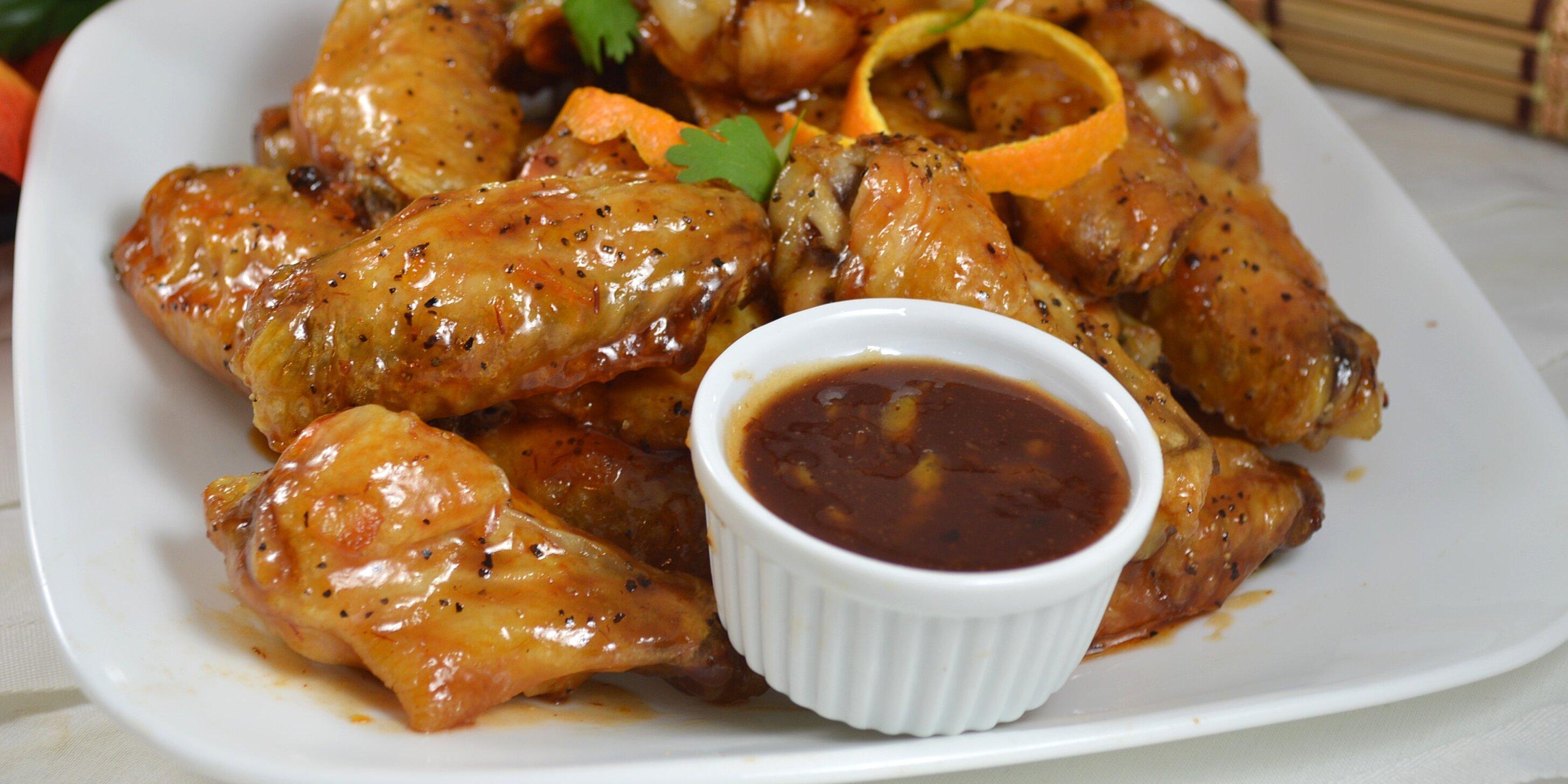 sweet chili and orange marmalade glazed chicken wings recipe