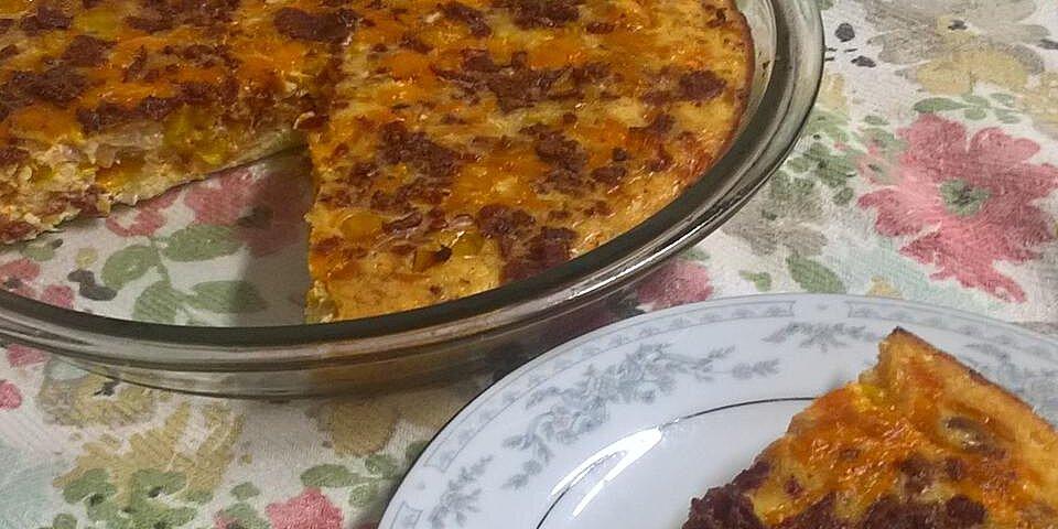 low carb cauliflower crust breakfast pie recipe