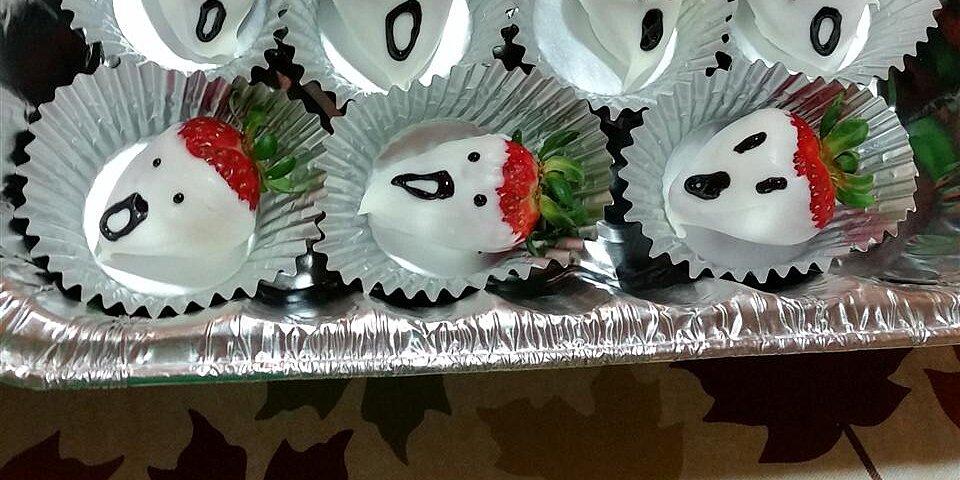 white chocolate strawberry ghosts recipe