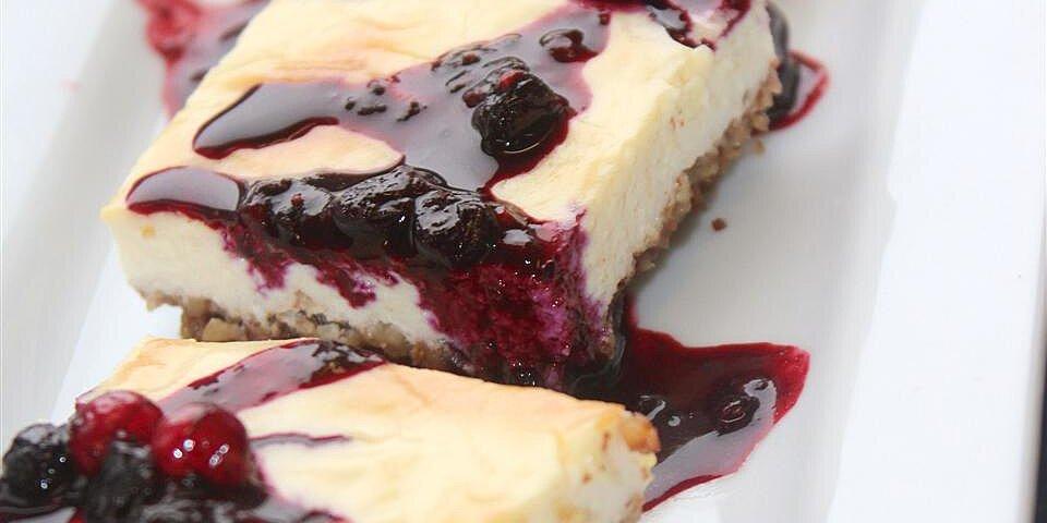 keto berry pecan cheesecake bars recipe