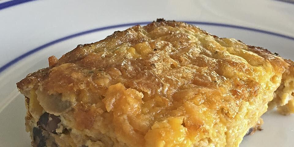 cheesy vegetarian egg bake recipe