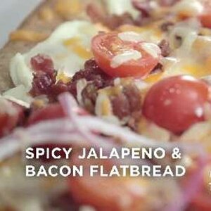 Spicy Jalapeno and Bacon Flatbread