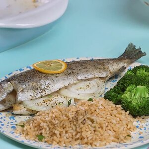 Baked Fresh Rainbow Trout