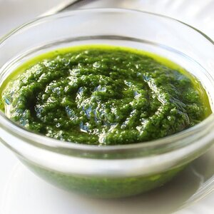 Green Chile Pesto with Roasted Chayote Squash