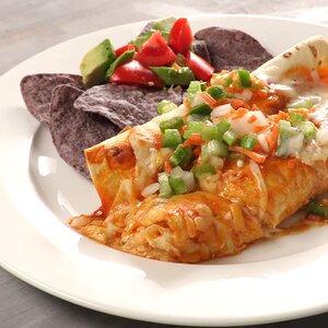 Easy Buffalo Chicken Enchiladas with Celery Salsa