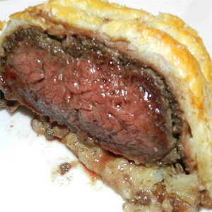 Prosciutto-Wrapped Beef Wellington without Pate