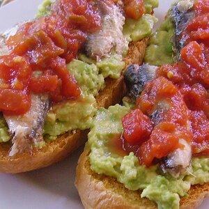 Avocado Salsa and Sardine Frenchy
