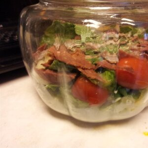 Italian Layered Salad with Bison Pepperoni