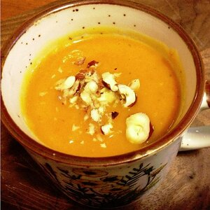 Banana Squash Soup with Sweet Potato and Green Apple