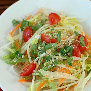Green Papaya Salad (Som Tam Malakor)