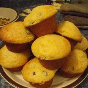 Pumpkin Yogurt Raisin Muffins