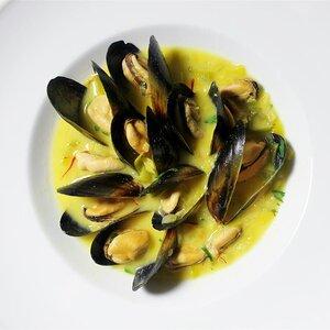 Saffron Mussel Bisque