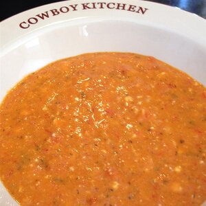 Red Pepper Soup with Feta Cheese