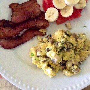Sauteed Mushroom Scrambled Eggs