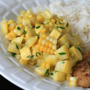 Yellow Squash and Corn Saute