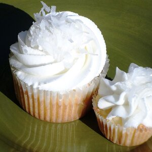 Coconut Cupcakes with Almond Cream Frosting