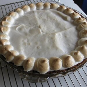 Sweet Potato Pie with Marshmallow Meringue Topping
