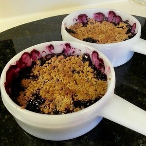 Individual Blueberry Crumble