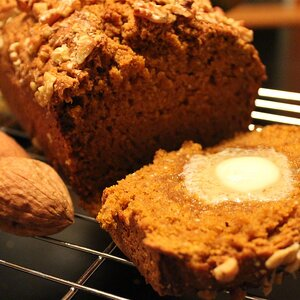 Double Pumpkin-Beer Bread