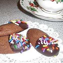 Gilded Chocolate Shortbread