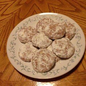 Cherry-Almond Snow Cookies