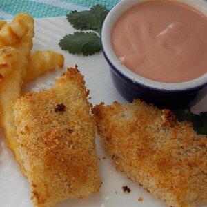 Parmesan Fish Sticks with Malt Vinegar Dipping Sauce