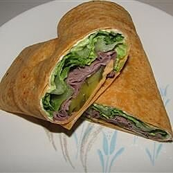 Roast Beef and Avocado Wraps