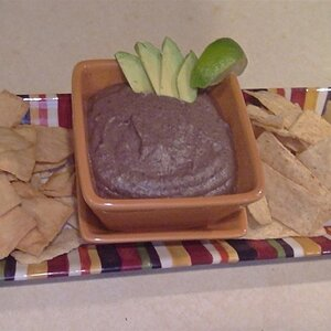 Black Bean Hummus with Avocado