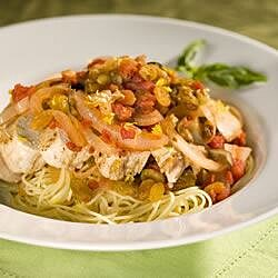 Sicilian Lemon Chicken with Raisin-Tomato Sauce