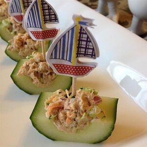 Tuna and Veggie Cucumber Boats