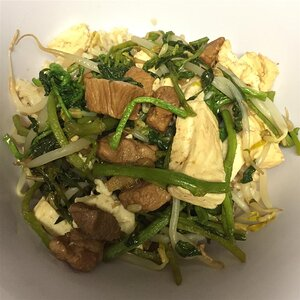 Pork Tofu with Watercress and Bean Sprouts