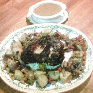 Jenn's Stuffed Pork Roast and Veggies