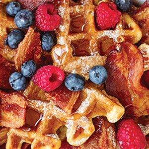 Bacon Waffle Bake