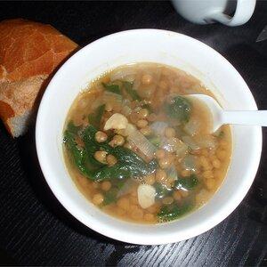 Lentil and Green Collard Soup