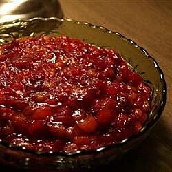 Cranberry Sauce with Apricots, Raisins, and Orange