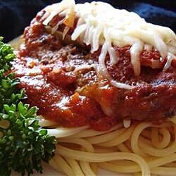 Beef Parmesan with Garlic Angel Hair Pasta
