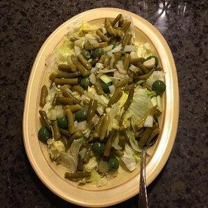Green Bean and Stuffed Olive Salad