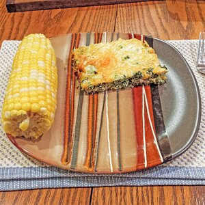 Skinny Crustless Spinach Quiche