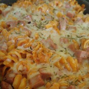 Rotini and Salami Casserole