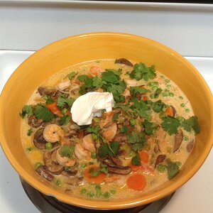 Coconut Milk Shrimp Soup