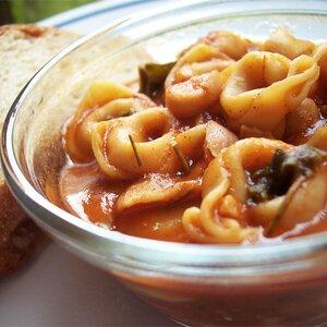 Turkey Garbanzo Bean and Kale Soup with Pasta