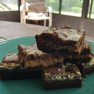 Peanut Butter Cake Mix Brownies