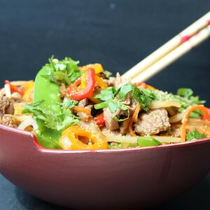 Addictive Asian Beef Slaw