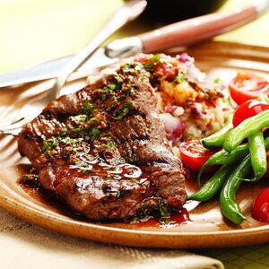 Steak & Potatoes with Anchovy-Caper Vinaigrette