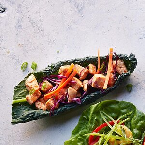 Barbecue Chicken Kale Wraps