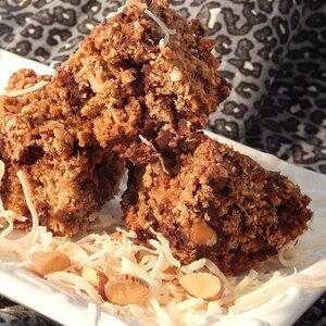 Chocolate Almond Coconut Breakfast Bars