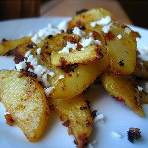 Herbed Greek Roasted Potatoes with Feta Cheese